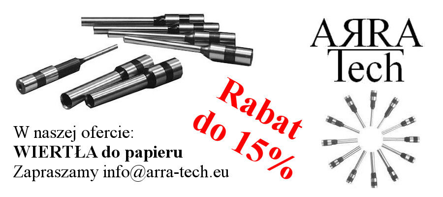 Wiertła do papieru ARRA-Tech